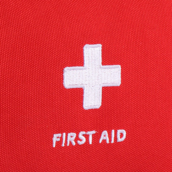 Portable Travel First Aid Bag (red) - 5