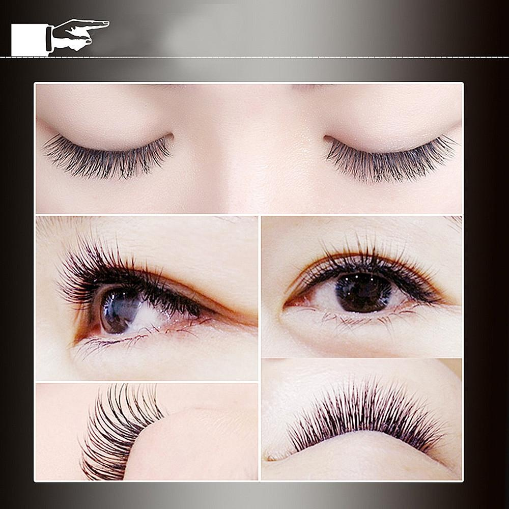 ... Professional Black Man-made Makeup Individual Cluster Eye Lashes Grafting A - intl ...