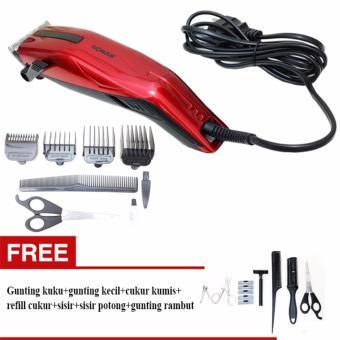Harga Promo Mesin cukur rambut atau alat cukur rambut Sonar SN-103 – Hitam/ Gratis Gunting 7 IN 1 – KOMPLIT Murah