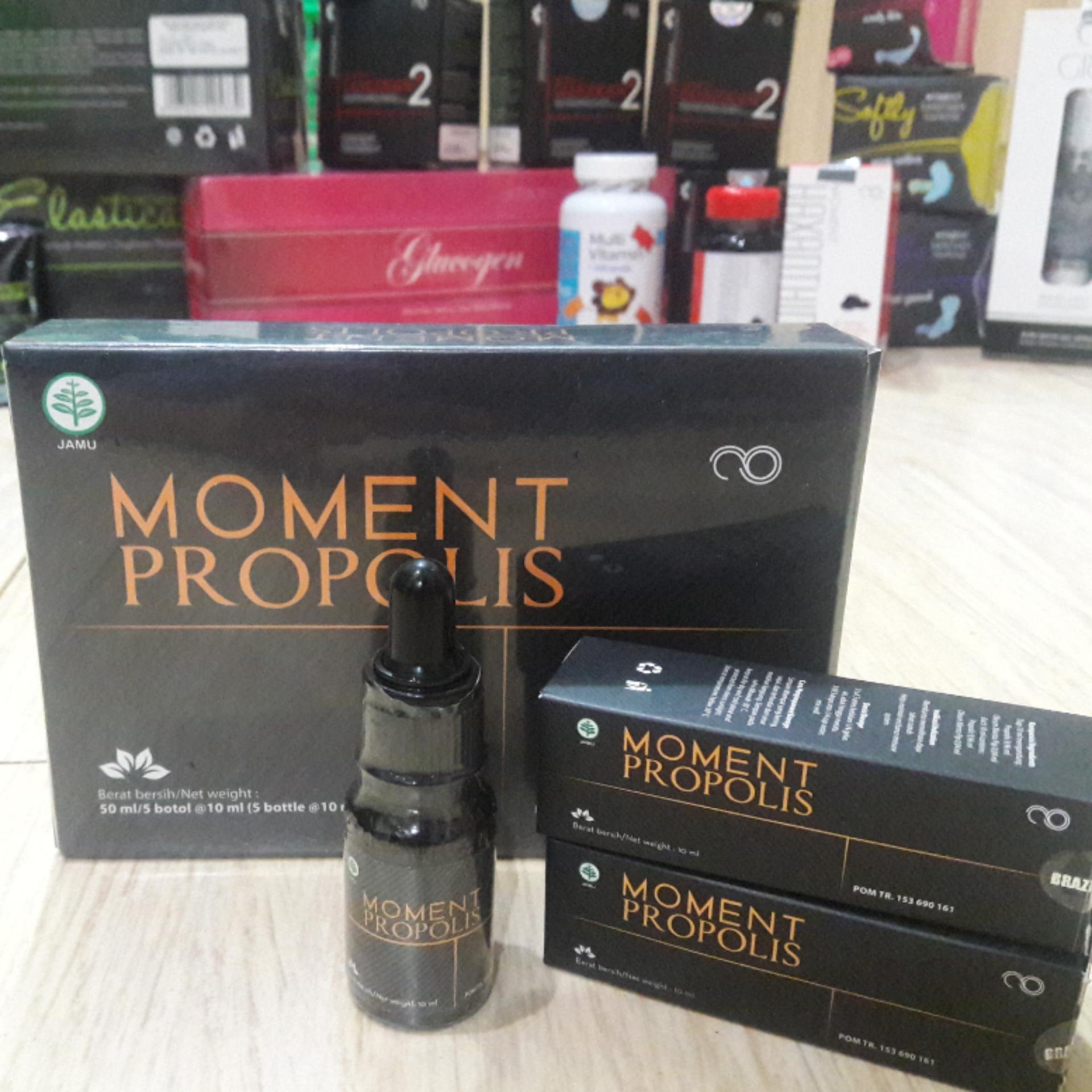 Harga Penawaran Propolis Moment Brazilian Baru Original Kemasan  1 Box Isi 5 Botol