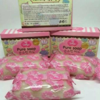 Harga PURE SOAP by JELLYS 100% PURE ORIGINAL THAI !!! Murah