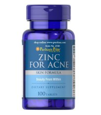 Puritan Pride Zinc for Acne, supplementasi mengatasi Jerawat - 100 tab