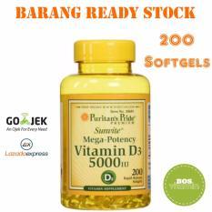 Puritan's Pride Mega Potency Vitamin D3 5000IU - 200 Softgel