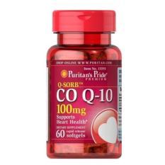 Puritans Pride QSORB CoQ10,Grapeseed Isi 60 Antioksidan Suplemen Pencegah Sakit Jantung