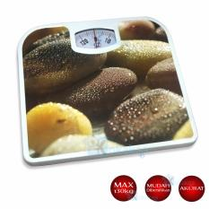 Q2 Timbangan Badan Manual Bathroom Scales Motif Batu