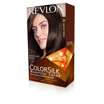 Harga Revlon 3D Colorsilk 33 Dark Soft Brown – Cat Pewarna Rambut Murah