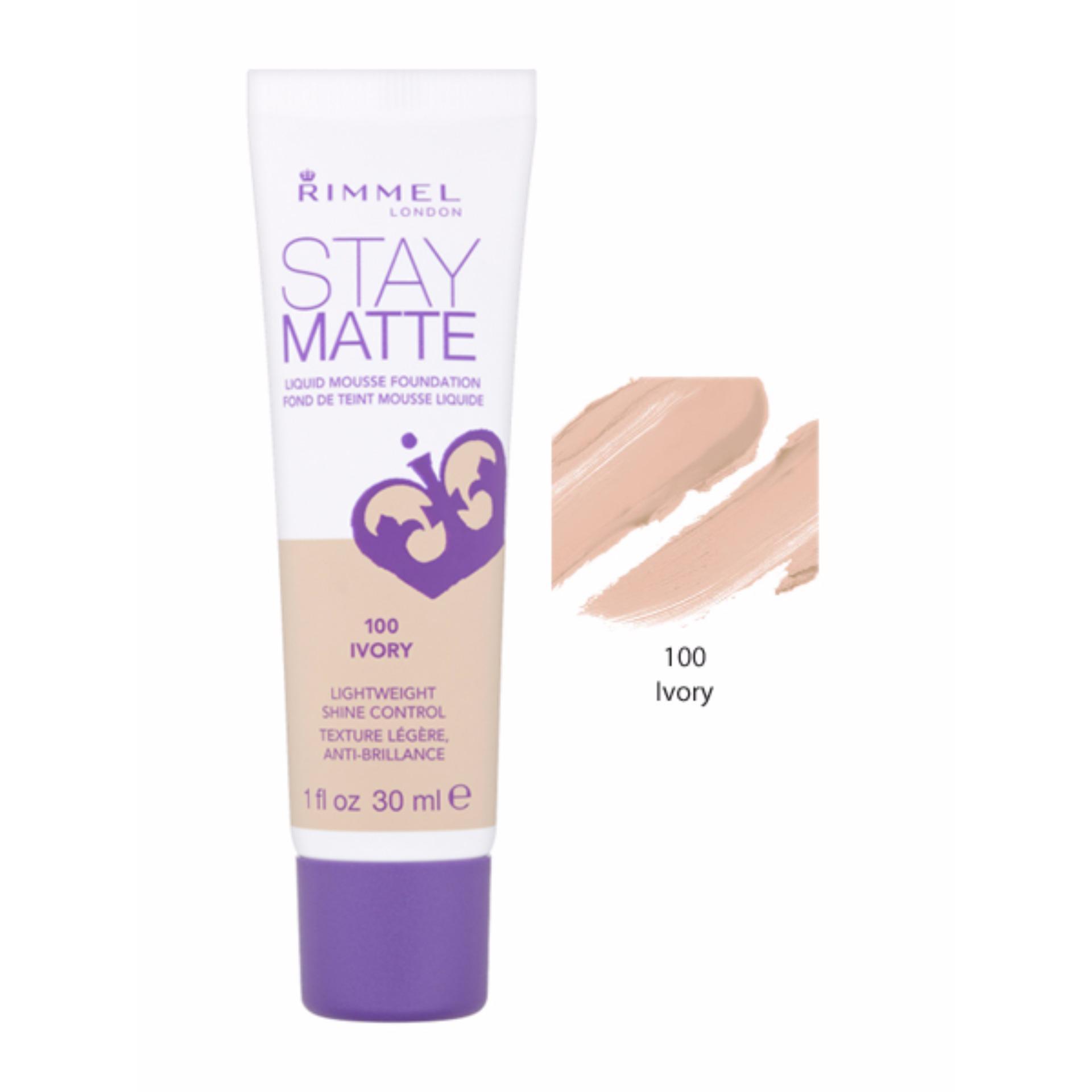 Eshop Checker Rimmel Stay Matte Liquid Mousse Foundation Ivory