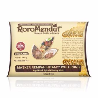 Roro Mendut Masker Rempah Hitam 5 Pack (New Formula) + Free Kuas