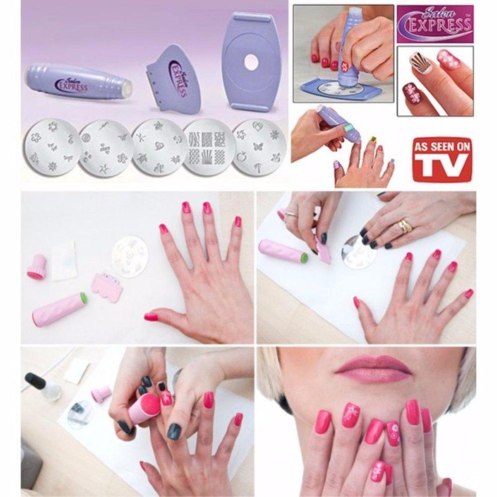 Flash Sale Salon Express Nail Art Stamping Kit As Seen TV - Penghias ...