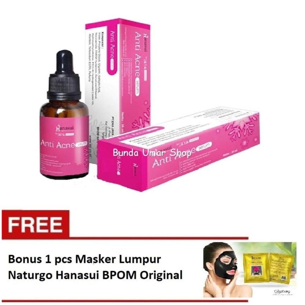 Harga Saya Serum Anti Acne Hanasui Original Bpom Free 1 Pcs Masker Body Care 3in1 Paket Lotion Lumpur