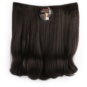 Harga Seven 7 Revolution Hair Clip Short Blow Black Big Layer 40 cm -Hitam / Hairclip Korea Murah