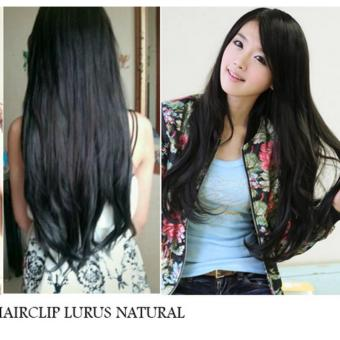 Harga Seven 7 Revolution Hairclip Big Layer Lurus Natural Hitam Murah