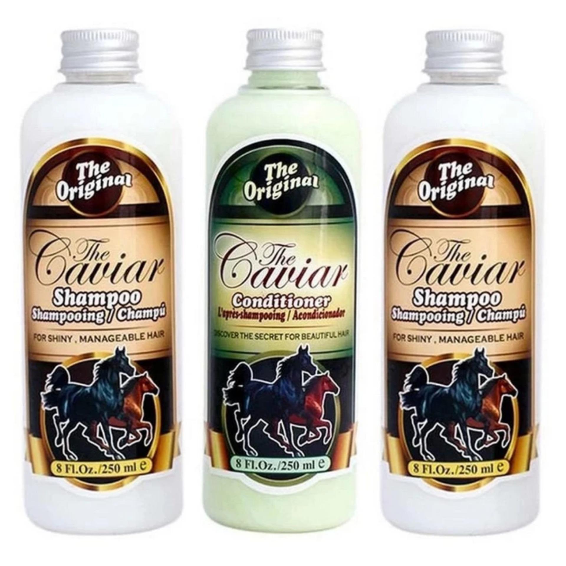Penawaran Bagus Shampoo Caviar Sampo Kuda Paket 2 Shampo Dan 1 Conditioner The Original Flash Sale Kondisioner Bpom