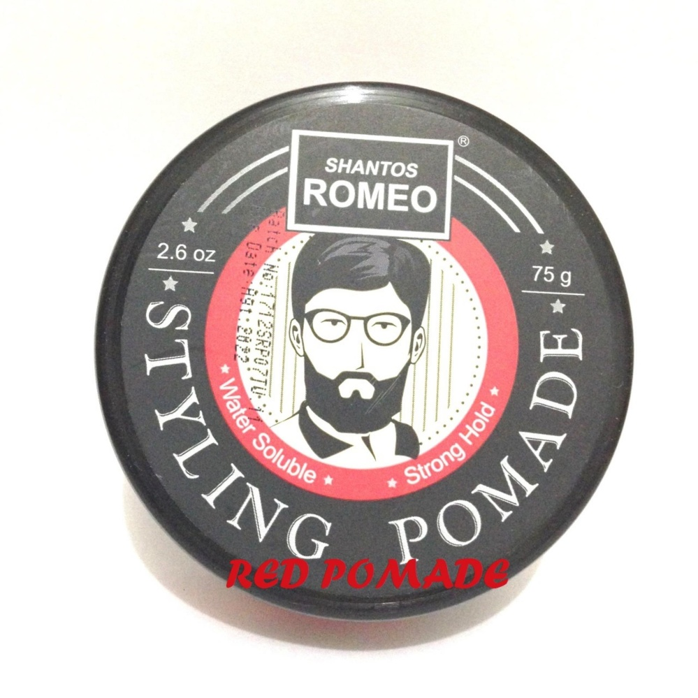 REVIEW SHANTOS ROMEO STYLING POMADE STRONG HOLD WATERBASED WATER BASED 2.6 OZ SUDAH BPOM+ FREE SISIR SAKU Terbagus