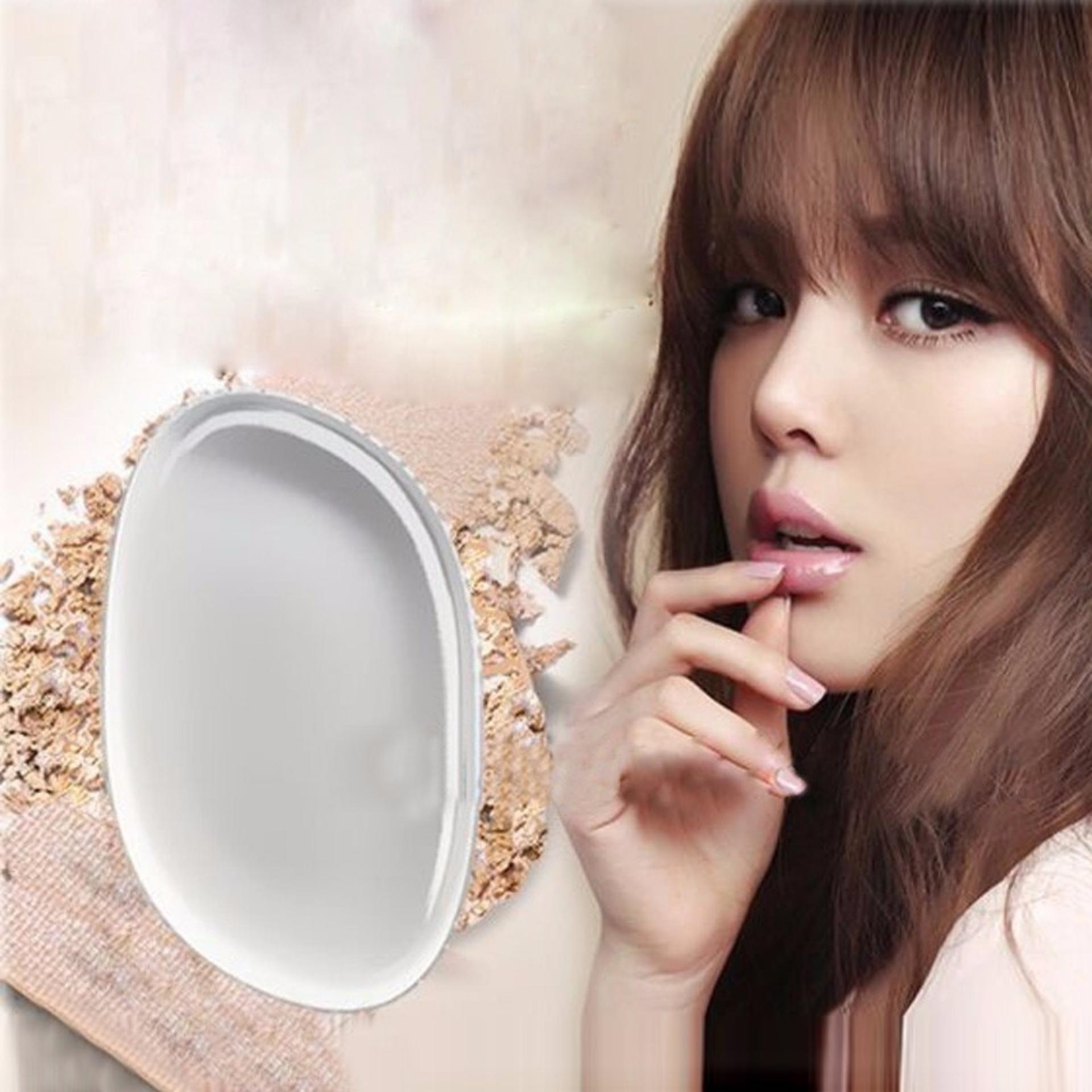 Silicon Sponge Puff Silikon Beauty Blender Makeup Bening Silisponge Oval Silicone Transparant