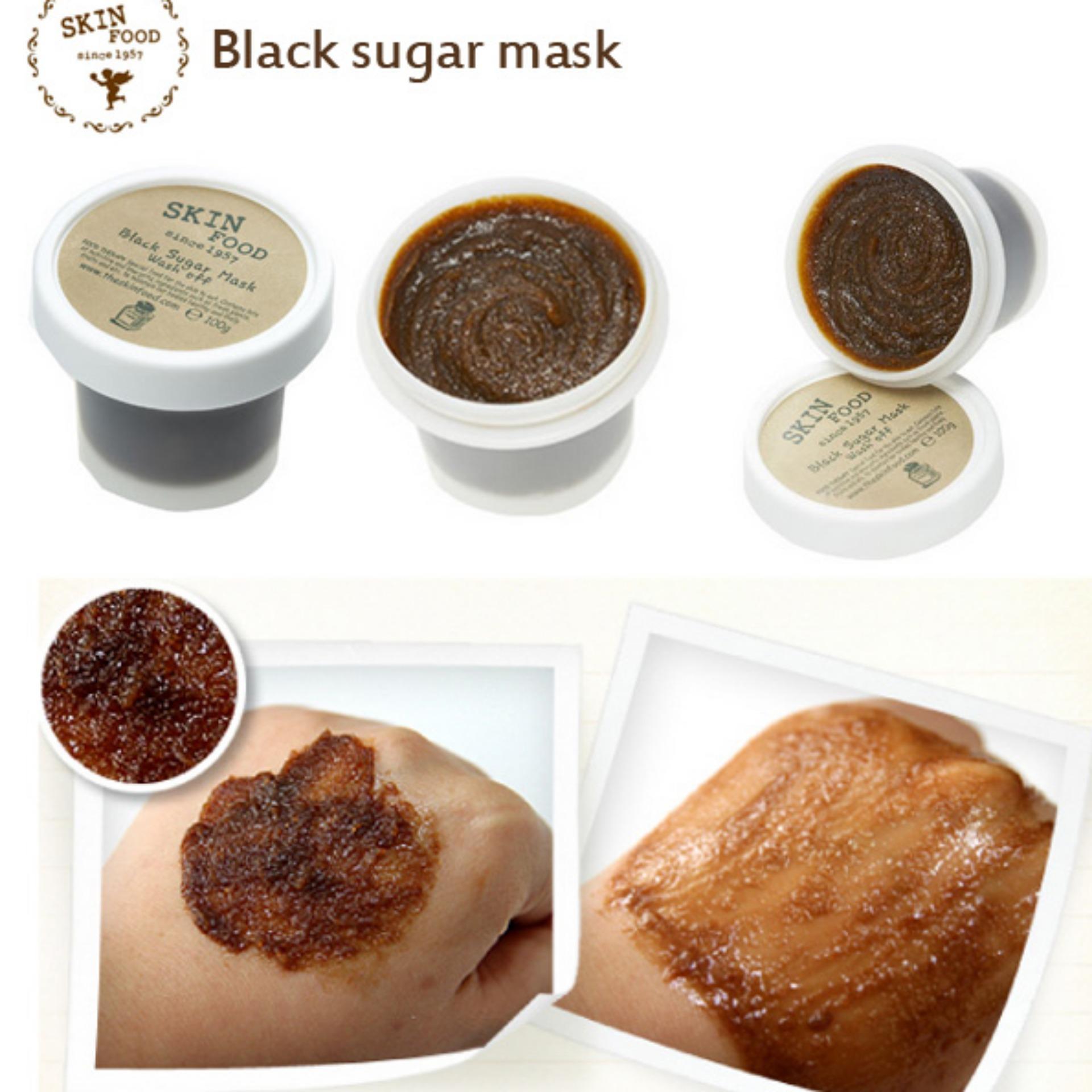 Harga Terendah Skinfood Blacksugar Mask Wash Off 100gr Baru Skin Food Black Sugar Honey