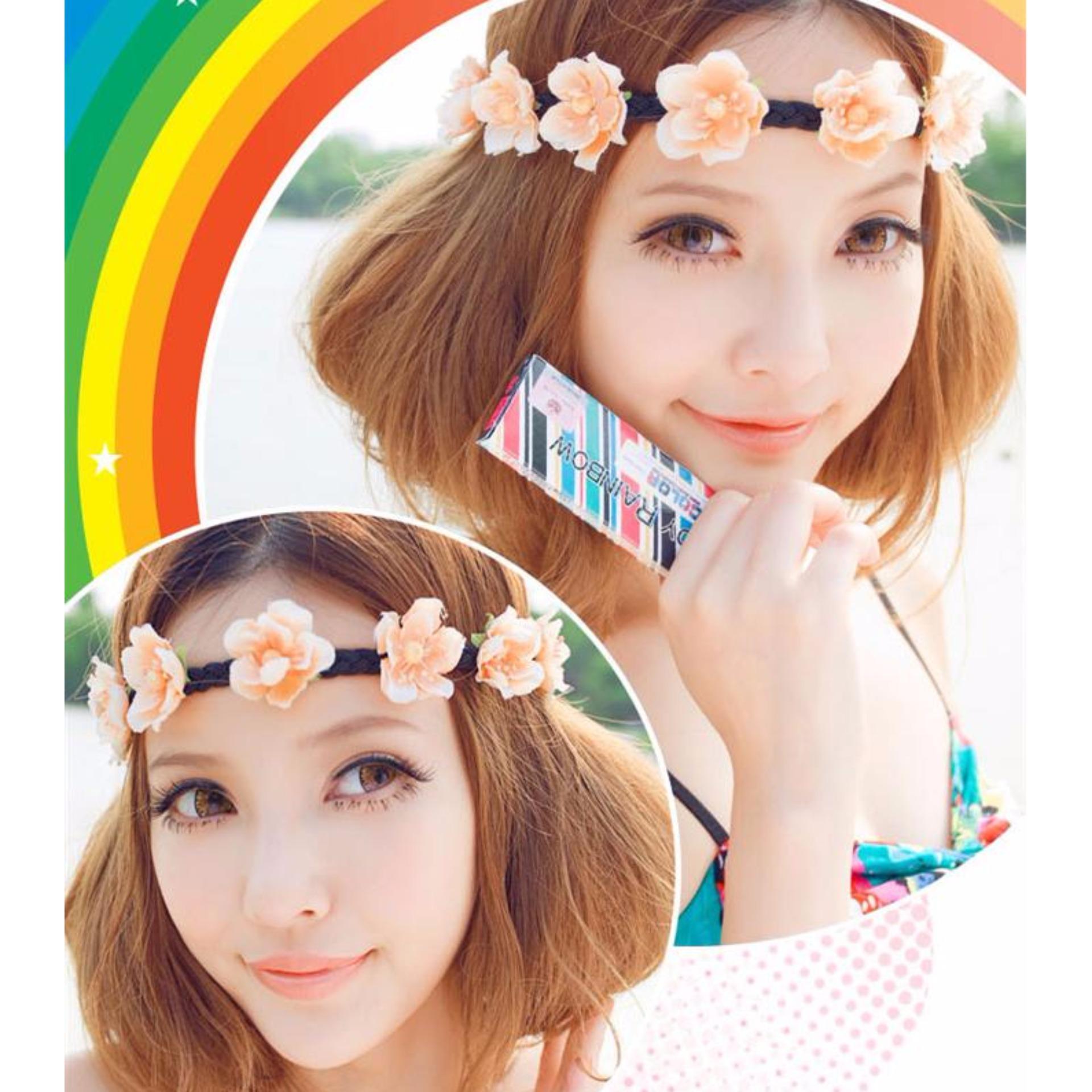 Softlens Candy Rainbow - Brown - Gratis Lens Case .