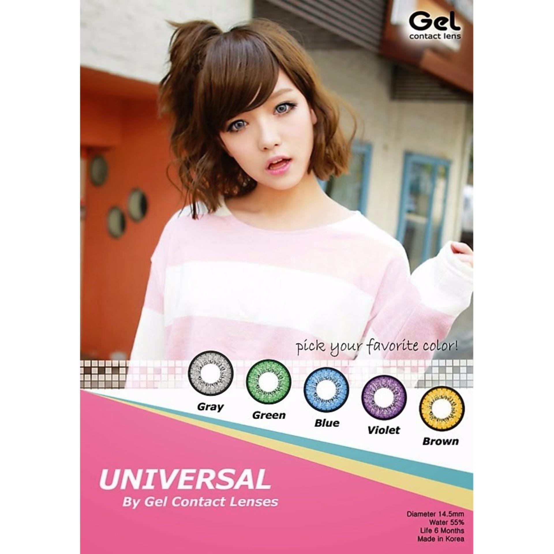 Softlens Gel Universal - Green + Free Lenscase .