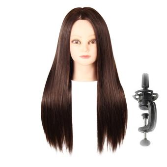 Harga Ssst lurus dan panjang sisi belahan rambut wig dengan dandananrambut kepang Braiding berdiri kepala pelatihan praktek manekintata desain dalam coklat – ???? ?????? Murah