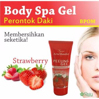 Syuga Peeling Gel Perontok Daki Rasa Strawberry BPOM 100gr - 1 Pcs - 2
