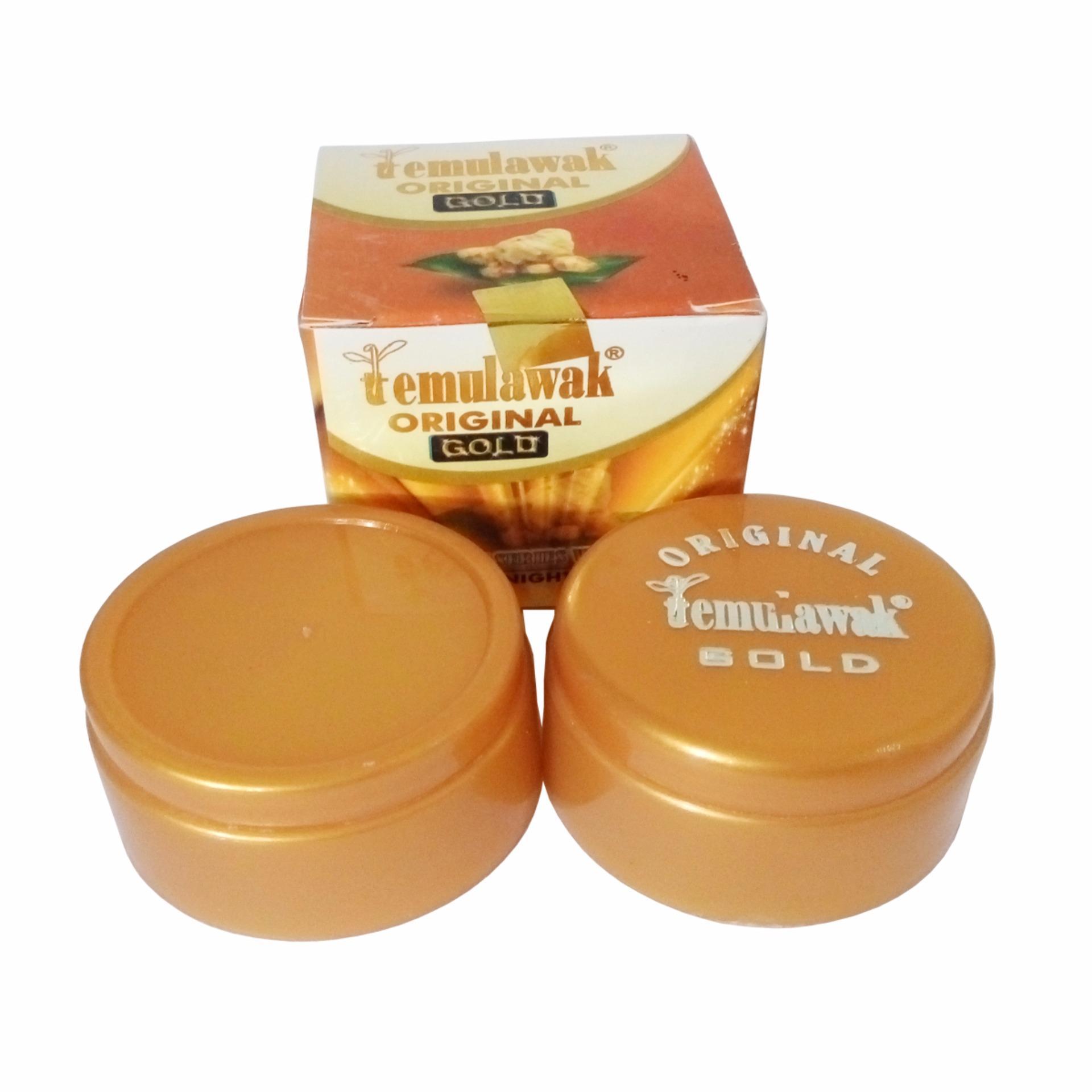 Eshop Checker Temulawak Cream Gold Susun Bedak Original Siang Malam
