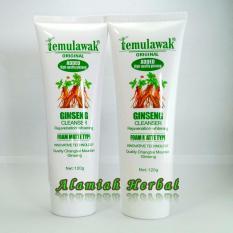 Temulawak Ginseng Facial Whitening Cleanser 2 pcs .