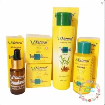 Bandingkan Toko Temulawak V Natural - Paket Kompilt Temulawak V Natural ( Cream Siang, Malam , Toner, Alcohol , dan Serum ) Original Perbandingan harga