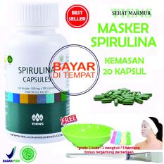 Tiens Masker Spirulina Herbal Pemutih Wajah - Paket 20 Kapsul