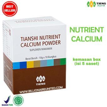 Cari Bandingkan Tiens Nutrient Calcium Powder Kalsium untuk Tulang Patah, Retak danOsteoporosis Promo Paket 5 Saset TS2 Hot Deals