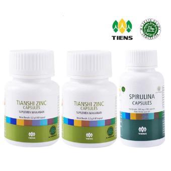 Harga Tiens Paket Nutrisi Perawatan Rambut Rontok & Kebotakan -Penumbuh Rambut 2 Zinc + 1 Spirulina Murah