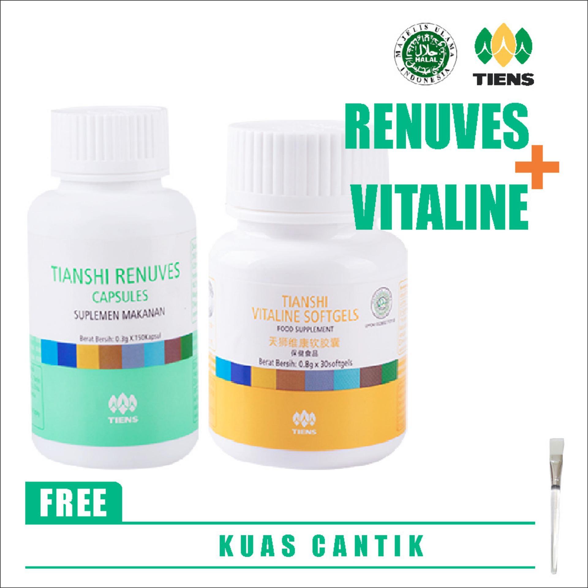 Tiens Pemutih Badan Herbal Paket 1 By Olshop 25 Spirulina Dan Masker  Ter Basic Free Kuas Vitaline Renuves Tianshi