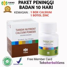 Tiens Peninggi Badan Paket 1 Box Calsium 1 Botol Zinc Promo Banting Harga & Free Member Diskon Tokoherbaltiens
