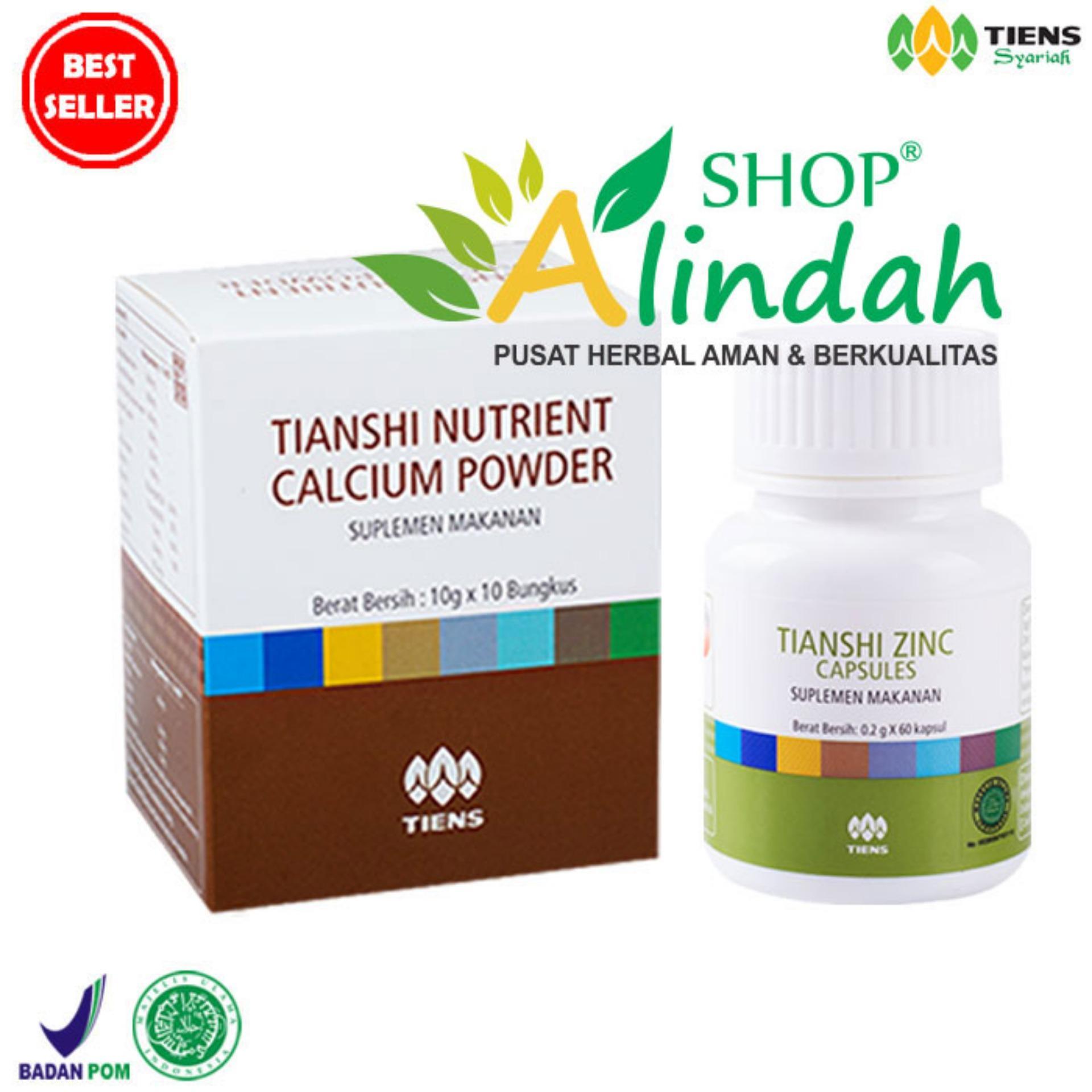 Flash Sale Tiens Peninggi Badan Tiens Calcium Powder dan Zinc promo paket hanya di Best galleri herbal