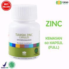 Tiens Zinc Capsules - Suplemen Penggemuk Badan - FULL 60 Kapsul