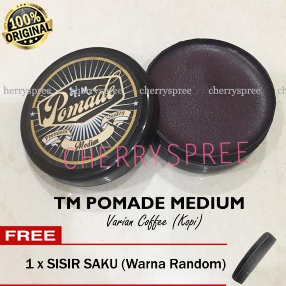 JUAL TM Pomade Medium Minyak Rambut Styling Rambut 55gram Varian Coffee Kopi Terbaik