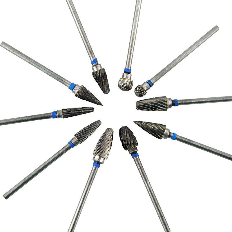 Tungsten Burs bor gigi Dental Laboratorium duri 10buah/bungkus(.