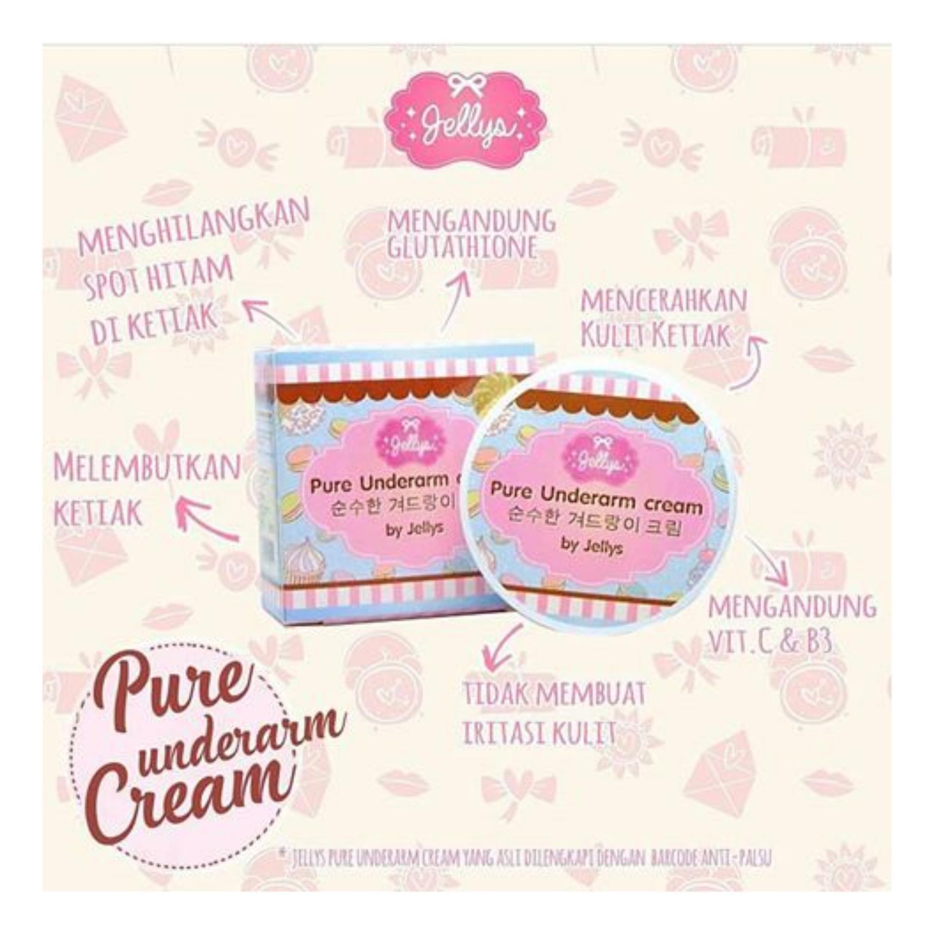 [ UNDERARM ] Jellys Pure Underarm Cream / Original Thailand 100% .