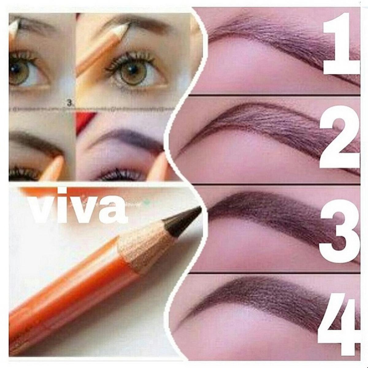 Wardah Eyebrow Pencil Black Membentuk Dan Mewarnai Alis Pesil Eyebrowpensil Viva Pensil Warna Coklat 2 Pcs