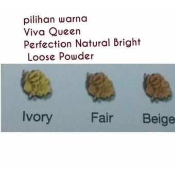 VIVA Queen Bedak Tabur / Perfection Natural Bright Loose Powder -Beige -