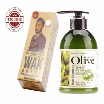 Harga Wak Doyok Cream Original Hologram + Olive Shampo – Shampoo Penyubur Dan Pemanjang Rambut – 270 mL Murah