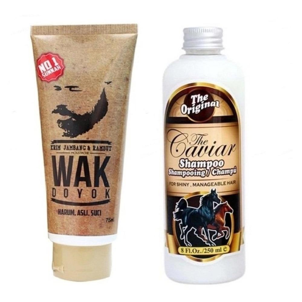 Flash Sale Wak Doyok - Cream Penumbuh Jambang Kumis Bulu - 75ml & ShampooCaviar Kuda Sudah BPOM - 250 ml