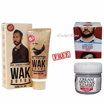Harga Wak Doyok Krim Penumbuh Jambang dan Rambut Original 100% + Free Minyak Kemiri Al Khodry Cream Penumbuh Rambut Murah