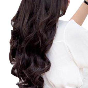 ... Detail Gambar Wanita rambut bergelombang panjang klip memakai ekstensi rambut palsu panjang 55 cm w 25