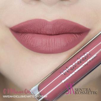 Wardah Exclusive Matte Lip Cream 09 - mauve on | Lazada