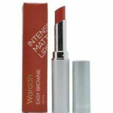 wardah intense matte lipstick 05 easy brownie