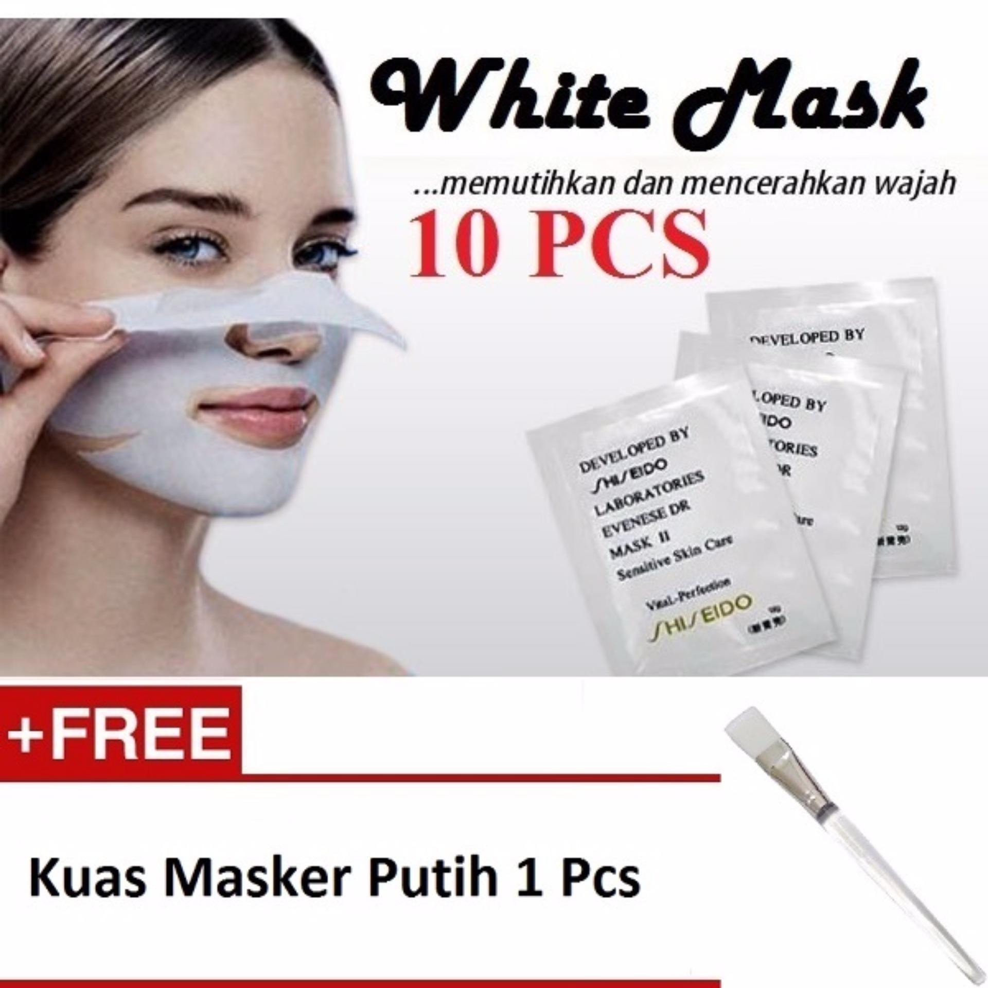 Perbandingan Harga White Mask Masker Pengangkat Komedo 10 Pcs Kuas Wajah Gratis Putih 1