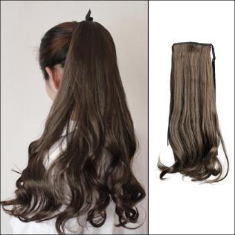Harga Women Long Curly Wavy Wig Ponytail Wig Hair Hairpiece Extension – intl Murah