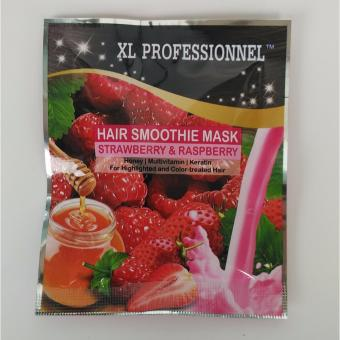 Harga XL Professionnel HAIR MASK Smoothie STRAWBERRY & RASPBERRY 25g Murah