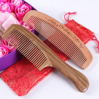 Yishe paket rumah tangga kepala datar kayu sisir sisir