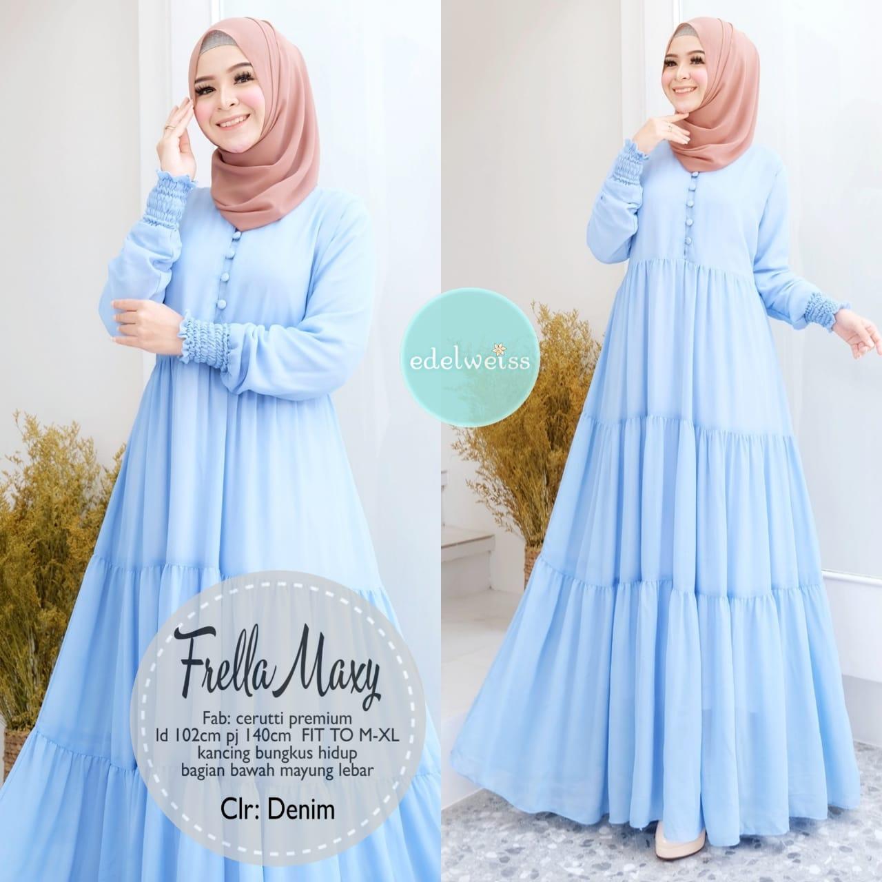 COD Realpict Gamis Frella Maxy Ceruti Premium  Gamis Batik Brokat Muslimah  Syari Terbaru  Model Gamis Batik Polos & Kombinasi Terbaru